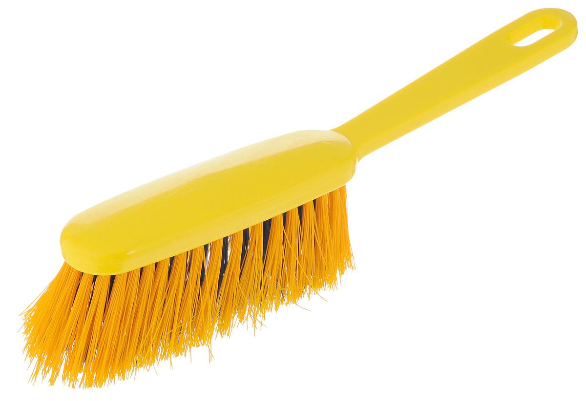 Щетка-сметка Хозяюшка Мила Жасмин, цвет: желтый, синий, 28 х 4,5 х 6 см22013_желтый, синийЩетка-сметка Хозяюшка Мила Жасмин выполнена из пластика и предназначена для уборки небольших поверхностей (в автомобиле, на кухне). Длинный ворс щетки позволяет собрать мусор из самых труднодоступных мест. Щетка оснащена эргономичной ручкой со специальным отверстием, за которое изделие можно повесить на крючок. Длина щетки: 28 см. Длина ворса: 5 см.