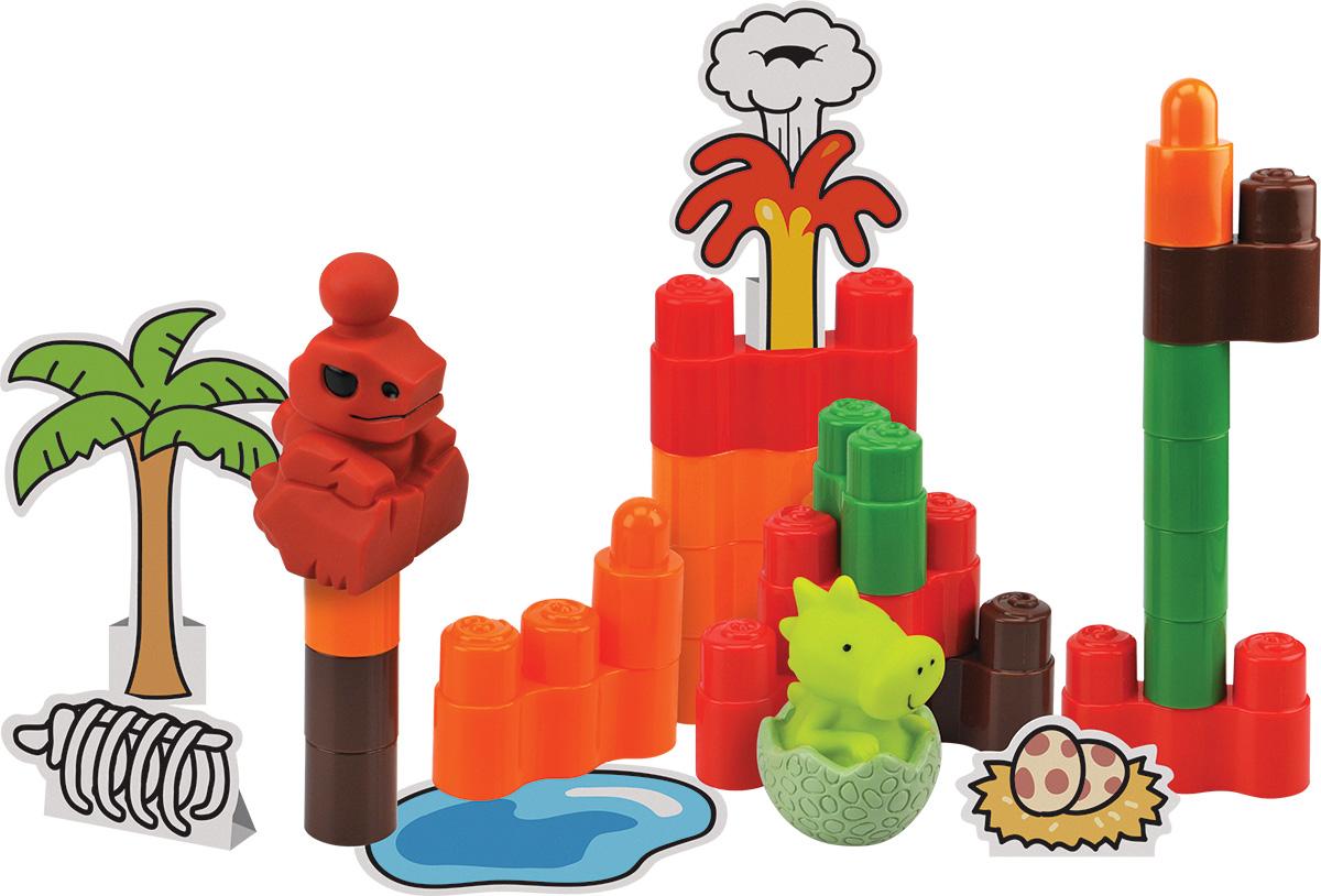 KS Kids Конструктор ДинопаркKA747Конструктор KS Kids Динопарк предназначен для малышей, которые только начинают приобретать свои конструкторские навыки и развивать пространственное и логическое мышление, поэтому деталей не так много, но они достаточно крупные, чтобы малышу было удобно брать их ручками. Способ крепления элементов достаточно простой. Детали имеют разные цвета. Фигурки динозавров выполнены с подробной детализаций. Конструктор способствует развитию цветового и зрительного восприятия, тактильных ощущений и мелкой моторики.