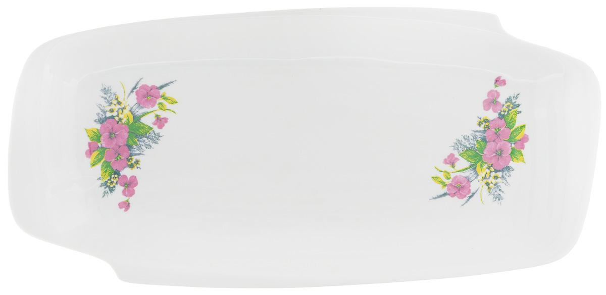 Селедочница Фарфор Вербилок Виола, 28,5 х 13,5 х 3 см19030750Селедочница Фарфор Вербилок Виола изготовлена из высококачественного фарфора и декорирована цветочным рисунком. Изделие идеально подходит для сервировки сельди в нарезке, а также разных видов закусок. Изумительное сервировочное блюдо-селедочница Фарфор Вербилок Виола станет изысканным украшением вашего праздничного стола. Размеры селедочницы: 28,5 х 13,5 см. Высота: 3 см.