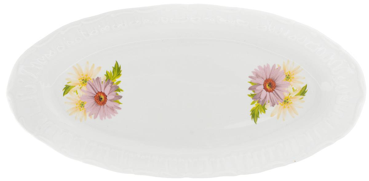Селедочница Фарфор Вербилок Розовые герберы, 27 х 13,5 х 2 см219031166Селедочница Фарфор Вербилок Розовые герберы изготовлена из высококачественного фарфора и декорирована цветочным рисунком. Изделие идеально подходит для сервировки сельди в нарезке, а также разных видов закусок. Изумительное сервировочное блюдо-селедочница Фарфор Вербилок Розовые герберы станет изысканным украшением вашего праздничного стола. Размеры селедочницы: 27 х 13,5 см. Высота: 2 см.