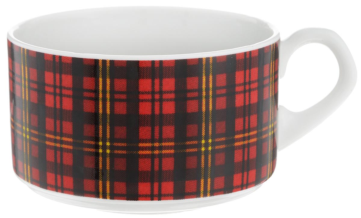 Чашка чайная Фарфор Вербилок Европейка. Шотландка, 230 мл2074210Чайная чашка Фарфор Вербилок Европейка. Шотландка способна скрасить любое чаепитие. Изделие выполнено из высококачественного фарфора. Посуда из такого материала позволяет сохранить истинный вкус напитка, а также помогает ему дольше оставаться теплым. Диаметр по верхнему краю: 8,5 см. Высота чашки: 5,5 см.
