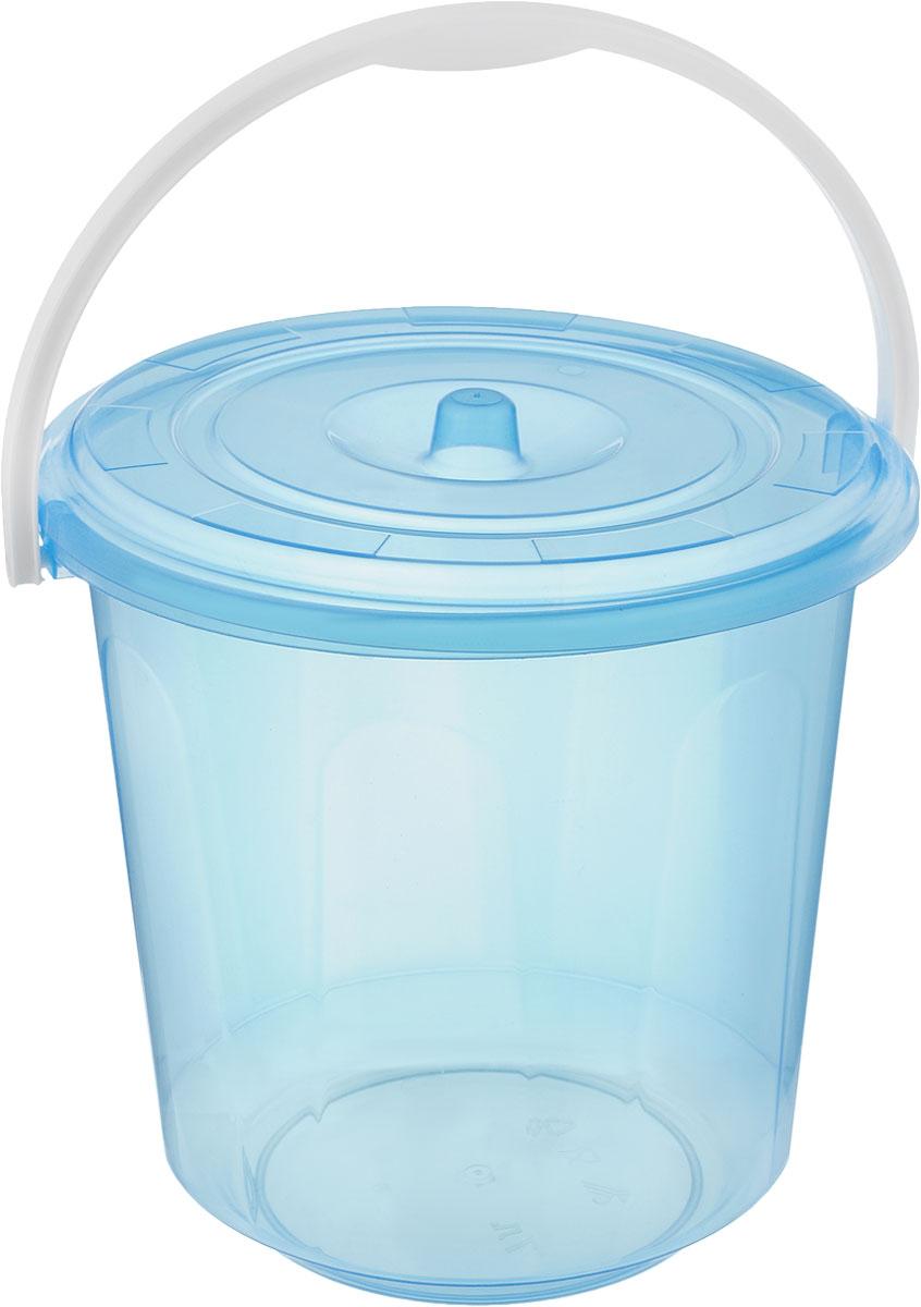 Ведро Альтернатива Хозяюшка, с крышкой, цвет: голубой, 7 лМ1204_голубойКруглое ведро Альтернатива Хозяюшка изготовлено из высококачественного пластика. Оно легче железного и не подвержено коррозии. Ведро оснащено удобной пластиковой ручкой и плотно прилегающей крышкой. Такое ведро станет незаменимым помощником в хозяйстве. Размер (с учетом крышки): 25 х 25 х 25 см.