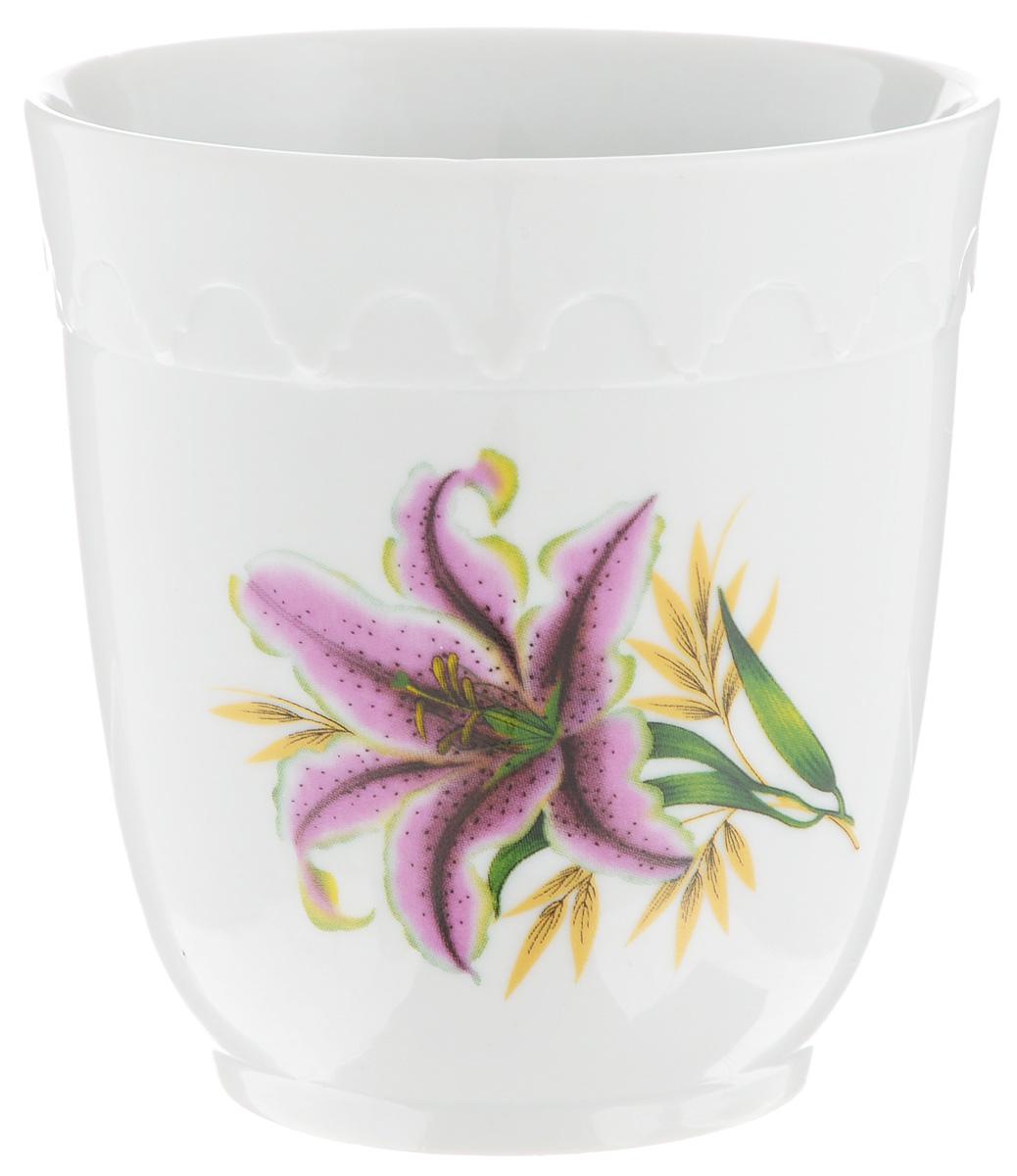 Кружка Фарфор Вербилок Арабеска. Розовая лилия, без ручки, 250 мл14141990Кружка Фарфор Вербилок Арабеска. Розовая лилия способна скрасить любое чаепитие. Изделие выполнено из высококачественного фарфора. Посуда из такого материала позволяет сохранить истинный вкус напитка, а также помогает ему дольше оставаться теплым. Диаметр по верхнему краю: 8 см. Высота кружки: 8,5 см.