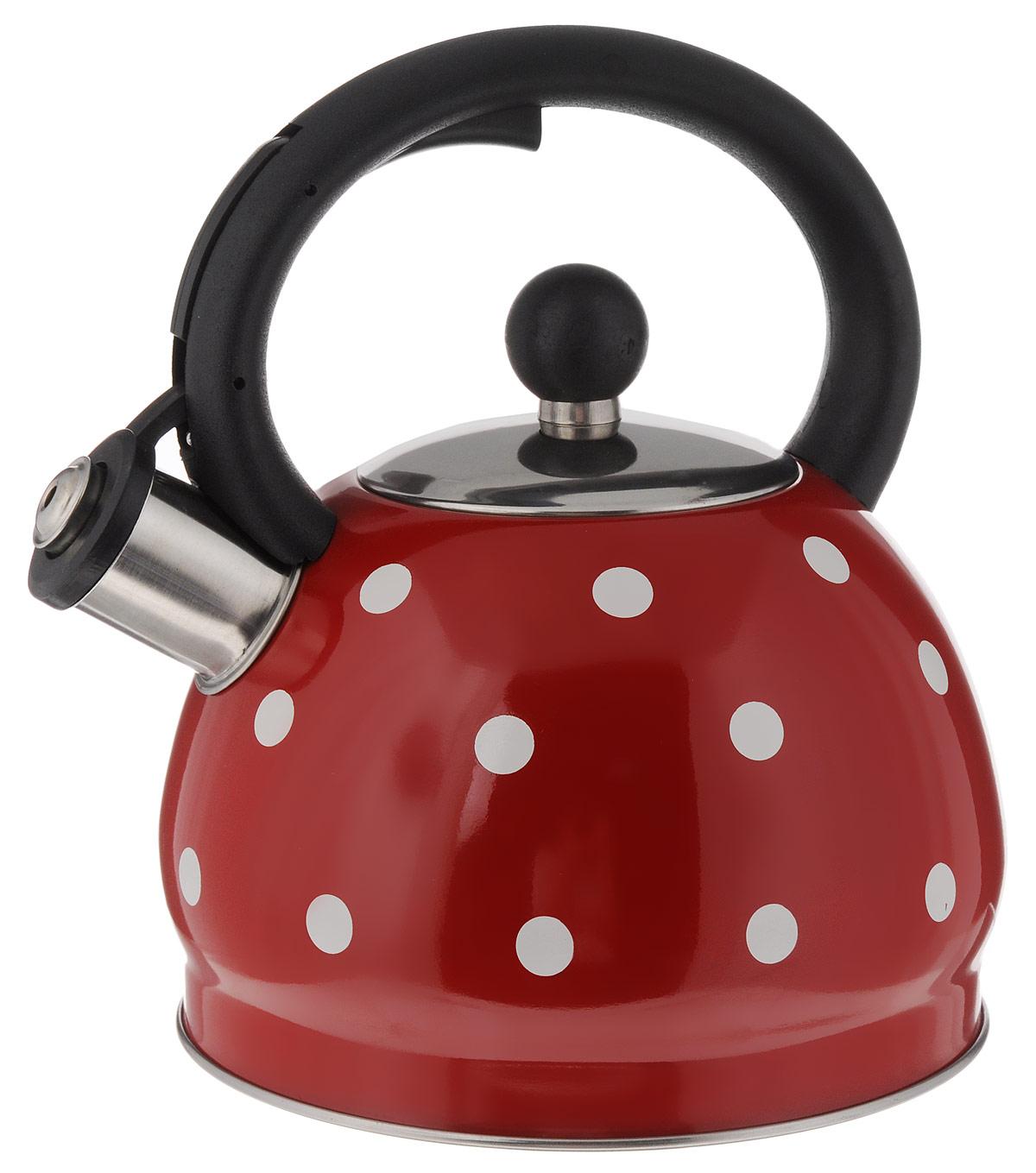 Чайник Hoffmann, со свистком, цвет: красный, 2 л. HM 5528/2HM 5528/2