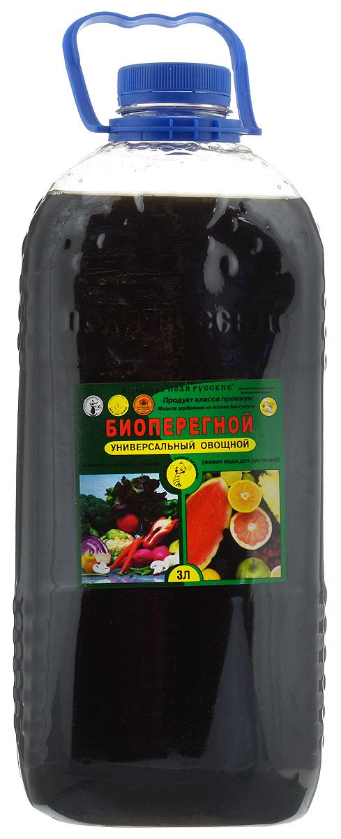Жидкое удобрение Поля Русские Биоперегной, для овощей, универсальное, 3 л0827Органическое удобрение Поля Русские Биоперегной - это комплекс натуральных питательных элементов, гуминовых веществ, стимуляторов роста и развития растений. Удобрение получено из биогумуса, произведенного дождевыми червями российской селекции. Содержит в себе все компоненты биогумуса в растворенном состоянии, биологически активные вещества, полезную микрофлору, другие метаболиты дождевых червей, аминокислоты, витамины, природные фитогормоны, микро- и макроэлементы. Повышает всхожесть семян (1,5-2 раза), урожайность, устойчивость растений к заболеваниям, стимулирует корнеобразование, рост и развитие, уменьшает содержание нитратов, тяжелых металлов и радионуклидов в сельскохозяйственной продукции, увеличивает содержание сахаров, белков и витаминов в плодах и в овощах и сокращает сроки их созревания (на 12-15 дней). Удобрение предназначено для замачивания семян, подкормки путем полива и опрыскивания зерновых, овощных, плодово-ягодных и других...