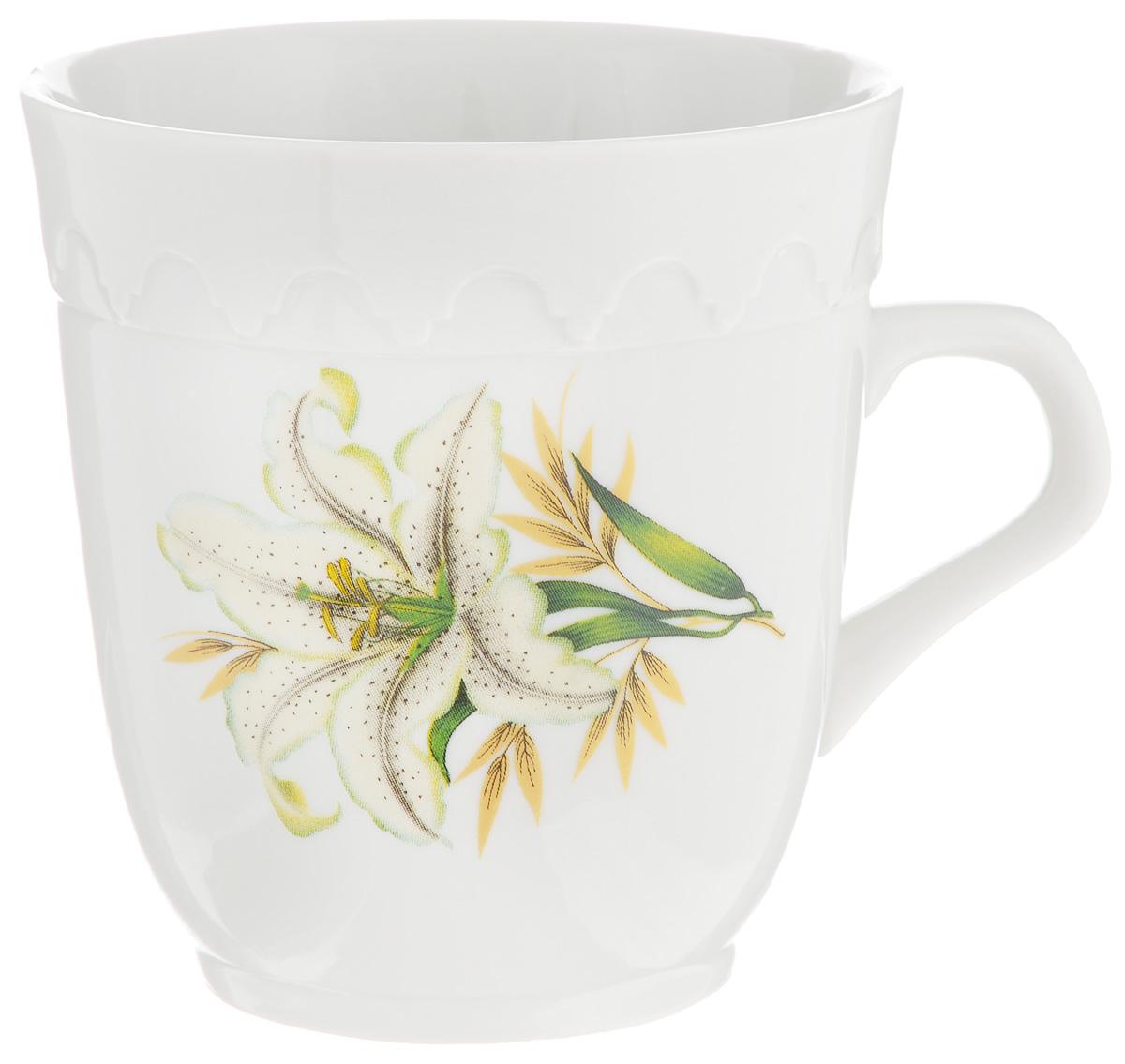 Кружка Фарфор Вербилок Арабеска. Белая лилия, 250 мл24321980Кружка Фарфор Вербилок Арабеска. Белая лилия способна скрасить любое чаепитие. Изделие выполнено из высококачественного фарфора. Посуда из такого материала позволяет сохранить истинный вкус напитка, а также помогает ему дольше оставаться теплым. Диаметр по верхнему краю: 8,3 см. Высота кружки: 9 см.