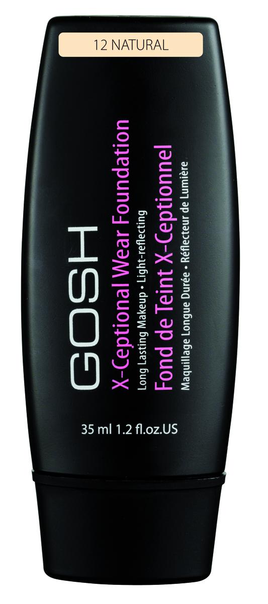Gosh, Тональный крем для лица X-Ceptional Wear устойчивый, 35 мл, 12
