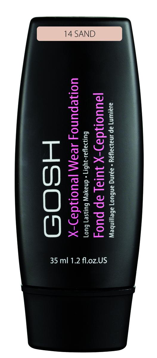 Gosh, Тональный крем для лица X-Ceptional Wear устойчивый, 35 мл, 14