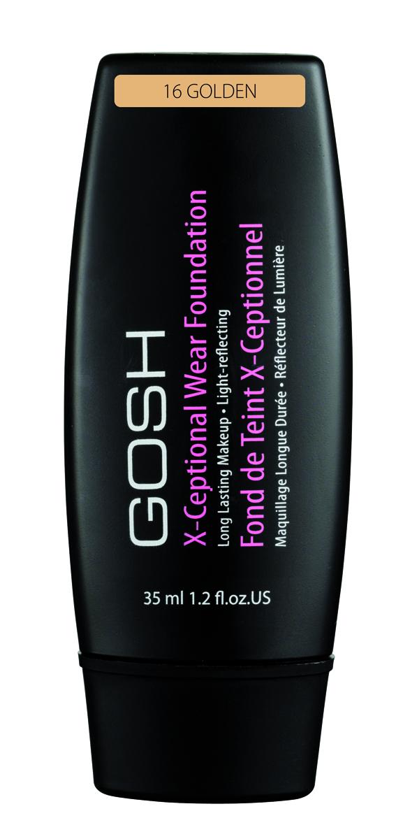 Gosh, Тональный крем для лица X-Ceptional Wear устойчивый, 35 мл, 16