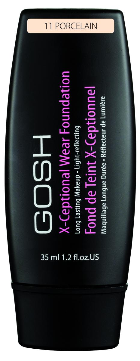 Gosh, Тональный крем для лица X-Ceptional Wear устойчивый, 35 мл, 11