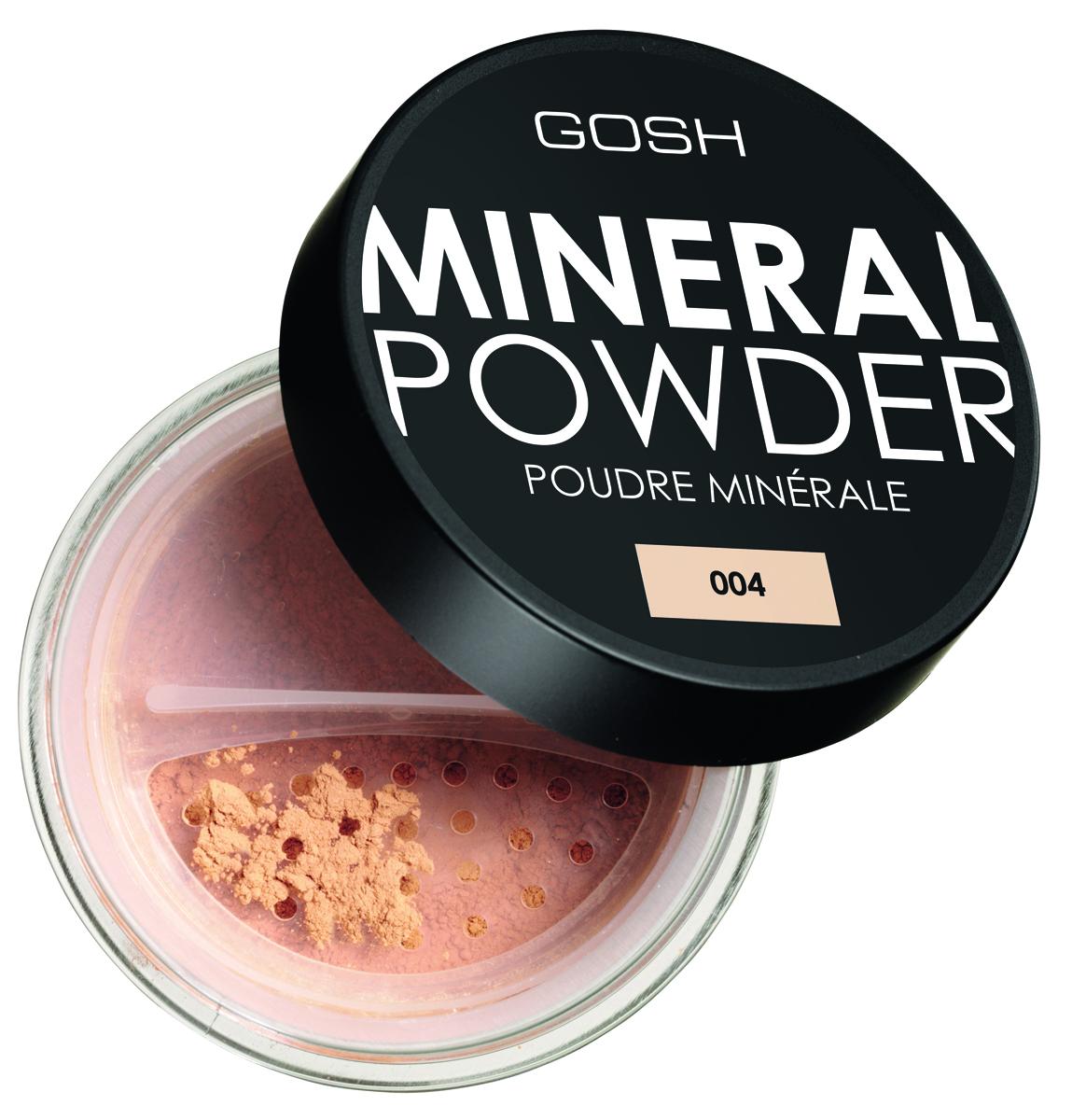 Gosh, Пудра рассыпчатая минеральная для лица Mineral Powder, 8 г, 004