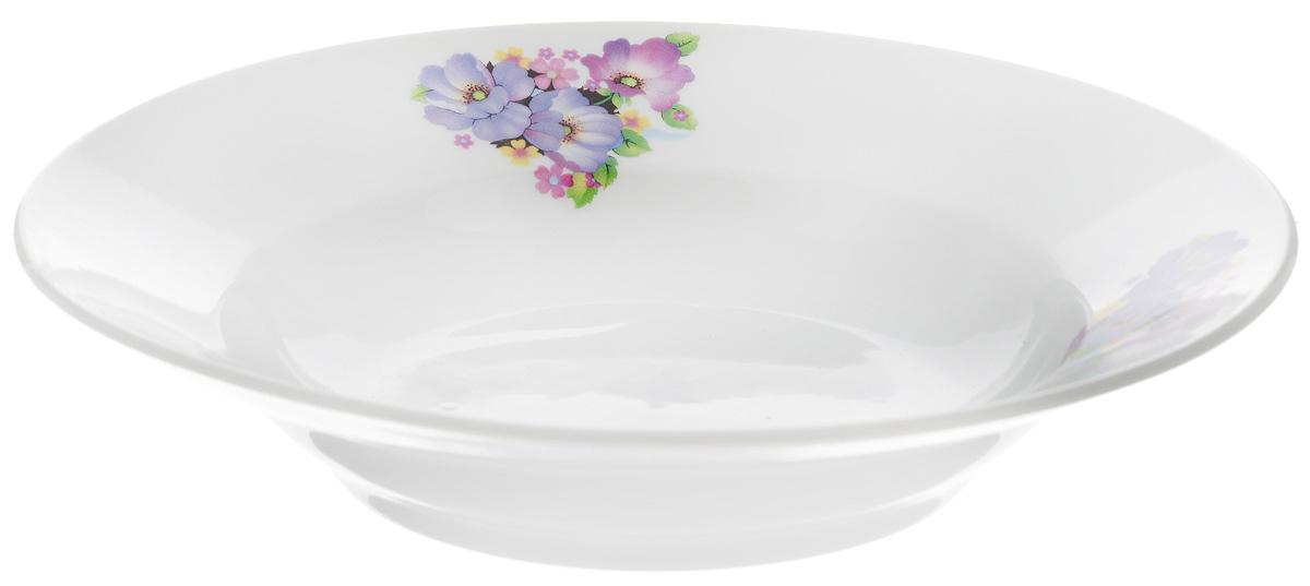 Тарелка глубокая Фарфор Вербилок Фиалка, диаметр 19 см15890210Тарелка Фарфор Вербилок Фиалка, изготовленная из высококачественного фарфора, имеет классическую круглую форму. Она прекрасно впишется в интерьер вашей кухни и станет достойным дополнением к кухонному инвентарю. Идеально подойдет для подачи супов. Тарелка Фарфор Вербилок Тюльпаны подчеркнет прекрасный вкус хозяйки и станет отличным подарком. Диаметр тарелки (по верхнему краю): 19 см. Высота тарелки: 4 см.