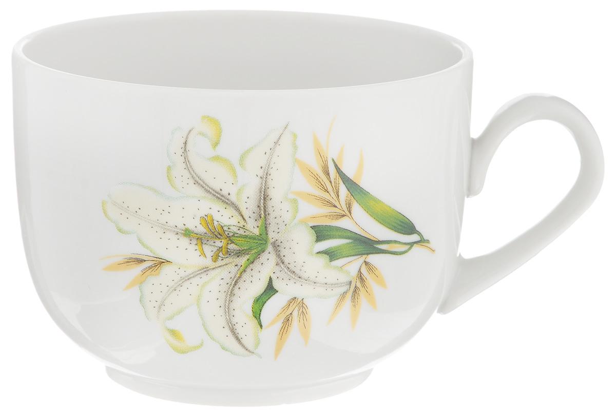 Чашка чайная Фарфор Вербилок Август. Белая лилия, 300 мл767198Чайная чашка Фарфор Вербилок Август. Белая лилия способна скрасить любое чаепитие. Изделие выполнено из высококачественного фарфора. Посуда из такого материала позволяет сохранить истинный вкус напитка, а также помогает ему дольше оставаться теплым. Диаметр по верхнему краю: 8,5 см. Высота чашки: 6,5 см.