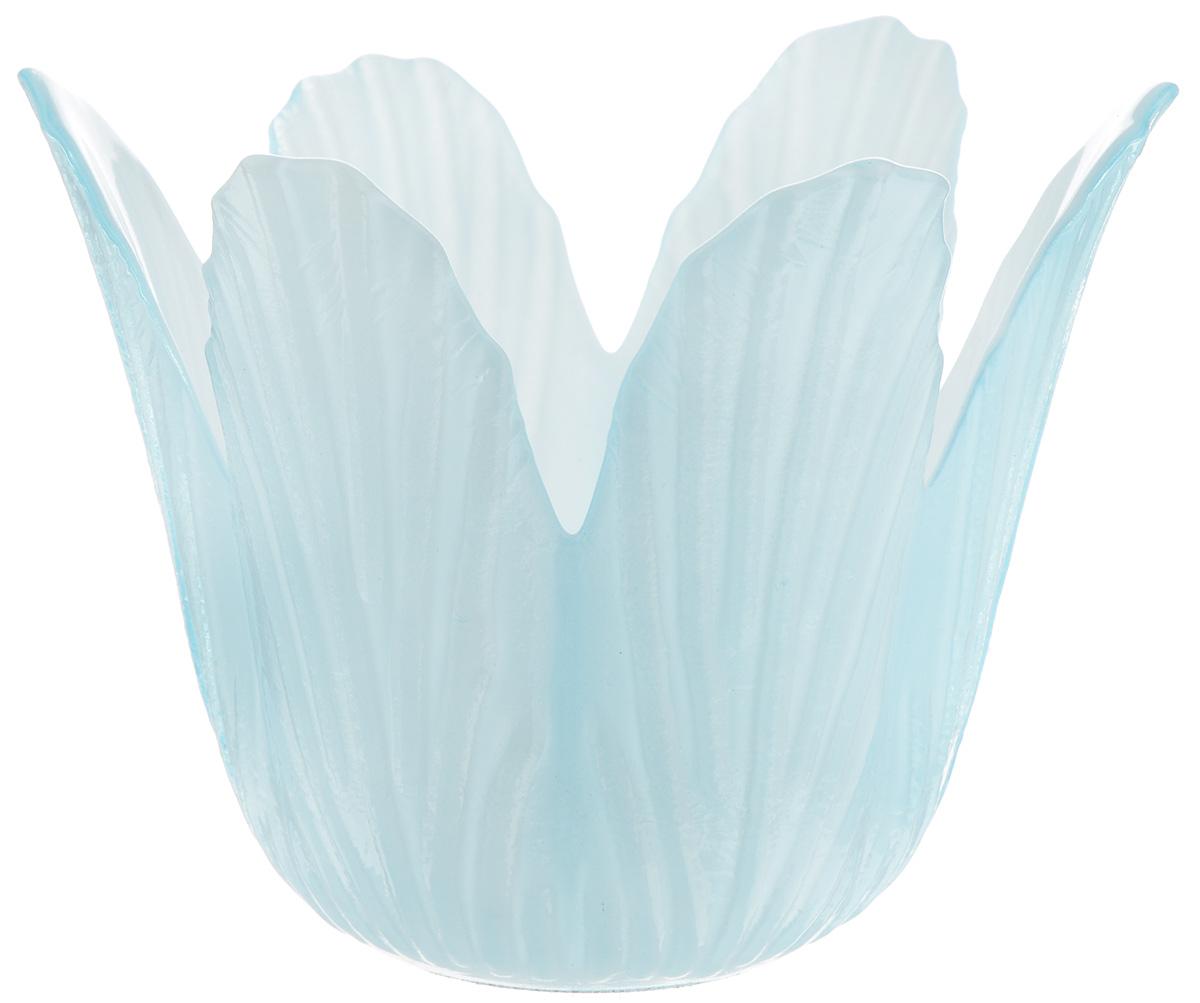 Подсвечник декоративный House & Holder, цвет: голубой, высота 7,5 смDP-C32-12HG15622A-22Декоративный подсвечник House & Holder изготовлен из керамики в виде кувшинки голубого цвета. Свеча вставляется внутрь цветка. Такой подсвечник будет потрясающе смотреться в интерьере комнаты и станет прекрасным сувениром к любому случаю.
