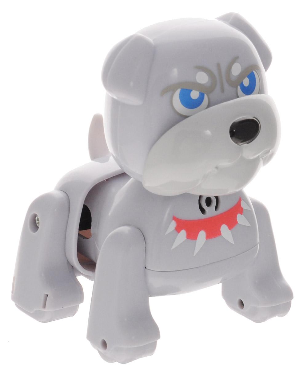 DigiFriends Интерактивная игрушка Щенок Бульдог88480Интерактивная игрушка DigiFriends Щенок Бульдог - забавный миниатюрный щенок, который обязательно понравится вашему малышу. Собака умеет делать множество вещей, присущих настоящим домашним питомцам, и даже чуть больше! Нужно поиграть с животным, чтобы активизировать его: потрогать за голову, похлопать в ладоши или посвистеть. Бульдог умеет самостоятельно ходить вперед и назад, издает приятные звуки и поет одну из встроенных песенок-мелодий. Во время передвижения задняя часть тела собаки раскачивается в ритме звучащих мелодий, а спинка шевелится подобно шерсти настоящего животного. Небольшие размеры позволяют брать щенка с собой повсюду. Игрушка синхронизируется с LilKittens и LilPuppies. Создайте свою коллекцию интерактивных щенков различных пород! Изделие изготовлено из высококачественного пластика, который не содержит вредных химических веществ. Рекомендуется докупить 3 батарейки напряжением 1,5V типа АG13 (товар комплектуется демонстрационными).