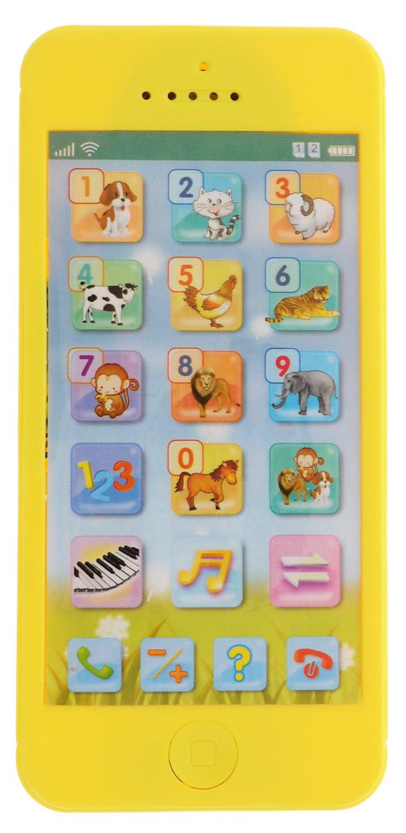 Mommy Love Развивающая игрушка Телефончик цвет желтый82032_желтыйРазвивающая игрушка Mommy Love Телефончик выполнена из безопасного материала и стилизована под сенсорный телефон. На сенсорном дисплее расположены кнопки выбора с изображениями от 0 до 9, а также кнопки вызова, сброса и выбора режимов. В нижней части телефона находится кнопка включения/выключения. Игрушка поможет вашему малышу развить слух, музыкальное восприятие, а также поднимет ребенку настроение и успокоит перед сном. Для работы игрушки необходимы 3 батарейки напряжением 1,5V типа АG13 (товар комплектуется демонстрационными).