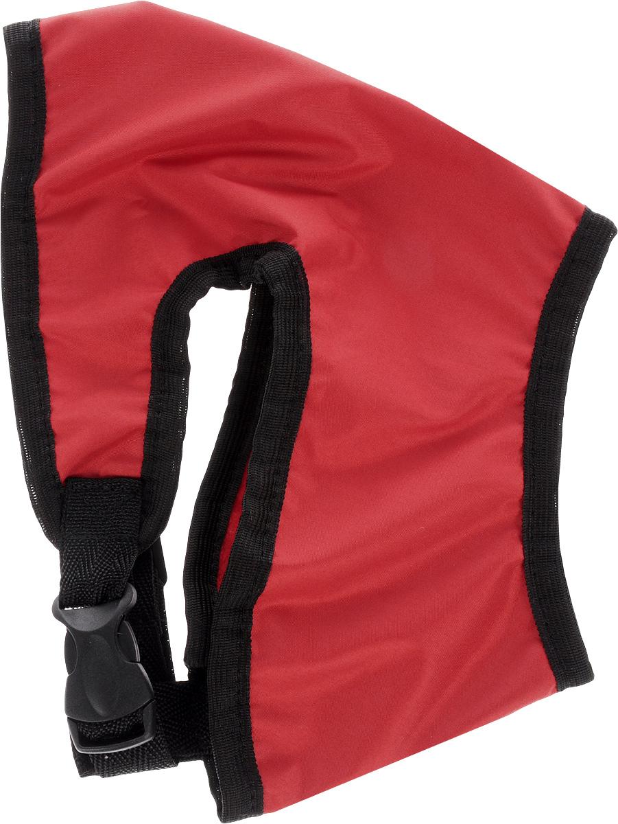 Шлейка для собак ЗооМарк, цвет: красный, черный. Размер 2Ш-2_красный, черныйШлейка для собак ЗооМарк выполнена из плащевки, а на подкладке используется флис. Изделие оснащено специальным крючком, к которому вы с легкостью сможете прикрепить поводок. Шлейка имеет застежку фастекс и регулируется при помощи пряжки. Шлейка - это альтернатива ошейнику. Правильно подобранная шлейка не стесняет движения питомца, не натирает кожу, поэтому животное чувствует себя в ней уверенно и комфортно. Изделие отличается высоким качеством, удобством и универсальностью. Обхват груди: 23-28 см. Длина спинки: 16,5 см. Ширина ремней: 2 см.