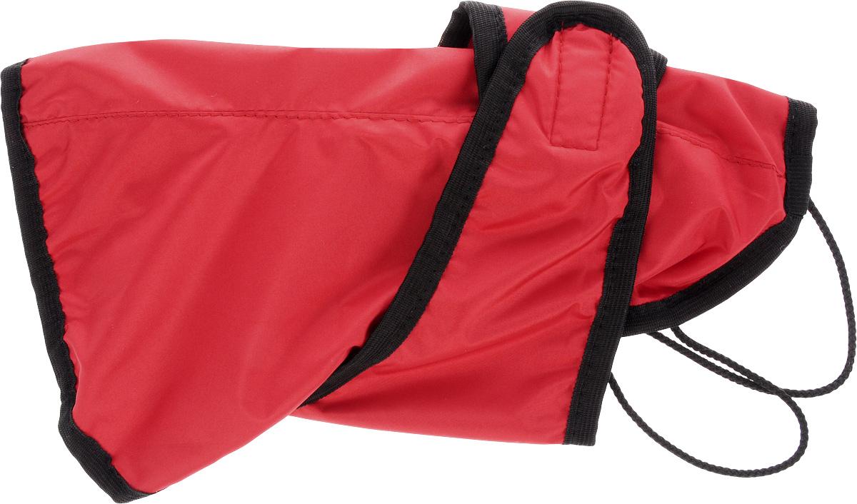 Попона для собак ЗооМарк, цвет: красный, черный. Размер 1П-1_красный, черныйПопона для собак ЗооМарк отлично подойдет для прогулок в прохладное время года. Попона изготовлена из плащевки, защищающая от ветра и осадков, а на подкладке используется флис, который отлично сохраняет тепло и обеспечивает воздухообмен. Попона оснащена веревочками-прорезями для ног и застегивается на липучку. Ворот оснащен резинкой, благодаря чему ее легко надевать и снимать. Благодаря такой попоне питомцу будет тепло и комфортно в любое время года.