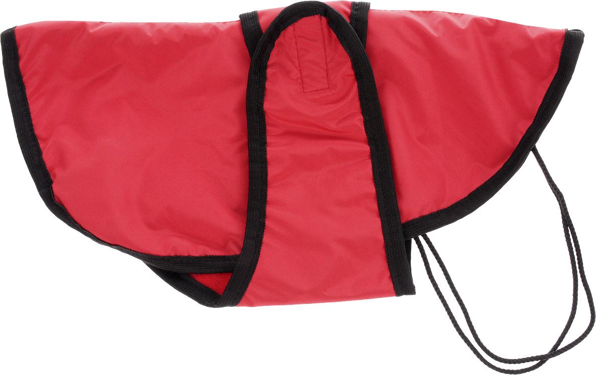 Попона для собак ЗооМарк, цвет: красный, черный. Размер 2П-2_красный, черныйПопона для собак ЗооМарк отлично подойдет для прогулок в прохладное время года. Попона изготовлена из плащевки, защищающая от ветра и осадков, а на подкладке используется флис, который отлично сохраняет тепло и обеспечивает воздухообмен. Попона оснащена веревочками-прорезями для ног и застегивается на липучку. Ворот оснащен резинкой, благодаря чему ее легко надевать и снимать. Благодаря такой попоне питомцу будет тепло и комфортно в любое время года.