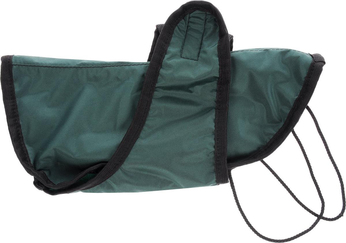 Попона для собак ЗооМарк, цвет: зеленый, черный. Размер 1П-1_зеленый, черныйПопона для собак ЗооМарк отлично подойдет для прогулок в прохладное время года. Попона изготовлена из плащевки, защищающая от ветра и осадков, а на подкладке используется флис, который отлично сохраняет тепло и обеспечивает воздухообмен. Попона оснащена веревочками-прорезями для ног и застегивается на липучку. Ворот оснащен резинкой, благодаря чему ее легко надевать и снимать. Благодаря такой попоне питомцу будет тепло и комфортно в любое время года.