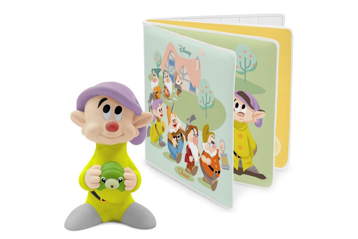 Chicco Книжка-игрушка 7 гномов + игрушка для ванной