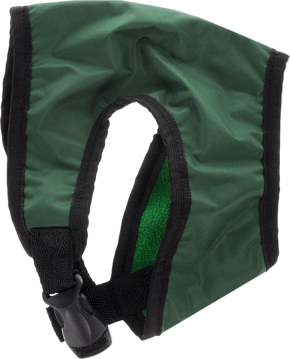 Шлейка для собак ЗооМарк, цвет: зеленый, черный. Размер 1Ш-1_зеленый, черныйШлейка для собак ЗооМарк выполнена из плащевки, а на подкладке используется флис. Изделие оснащено специальным крючком, к которому вы с легкостью сможете прикрепить поводок. Шлейка имеет застежку фастекс и регулируется при помощи пряжки. Шлейка - это альтернатива ошейнику. Правильно подобранная шлейка не стесняет движения питомца, не натирает кожу, поэтому животное чувствует себя в ней уверенно и комфортно. Изделие отличается высоким качеством, удобством и универсальностью. Обхват груди: 22-25 см. Длина спинки: 14 см. Ширина ремней: 2 см.