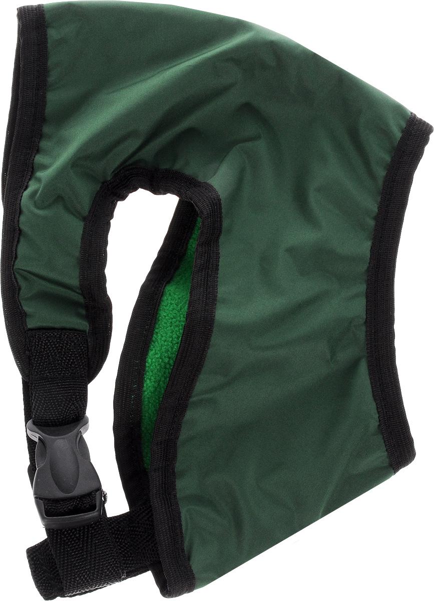 Шлейка для собак ЗооМарк, цвет: зеленый, черный. Размер 2Ш-2_зеленый, черныйШлейка для собак ЗооМарк выполнена из оксфорда, а на подкладке используется флис. Изделие оснащено специальным крючком, к которому вы с легкостью сможете прикрепить поводок. Шлейка имеет застежку фастекс и регулируется при помощи пряжки. Шлейка - это альтернатива ошейнику. Правильно подобранная шлейка не стесняет движения питомца, не натирает кожу, поэтому животное чувствует себя в ней уверенно и комфортно. Изделие отличается высоким качеством, удобством и универсальностью. Обхват груди: 23-28 см. Длина спинки: 16,5 см. Ширина ремней: 2 см.