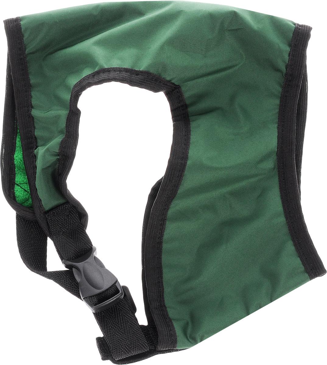 Шлейка для собак ЗооМарк, цвет: зеленый, черный. Размер 3Ш-3_зеленый, черныйШлейка для собак ЗооМарк выполнена из оксфорда, а на подкладке используется флис. Изделие оснащено специальным крючком, к которому вы с легкостью сможете прикрепить поводок. Шлейка имеет застежку фастекс и регулируется при помощи пряжки. Шлейка - это альтернатива ошейнику. Правильно подобранная шлейка не стесняет движения питомца, не натирает кожу, поэтому животное чувствует себя в ней уверенно и комфортно. Изделие отличается высоким качеством, удобством и универсальностью. Обхват груди: 25-30 см. Длина спинки: 17 см. Ширина ремней: 2 см.