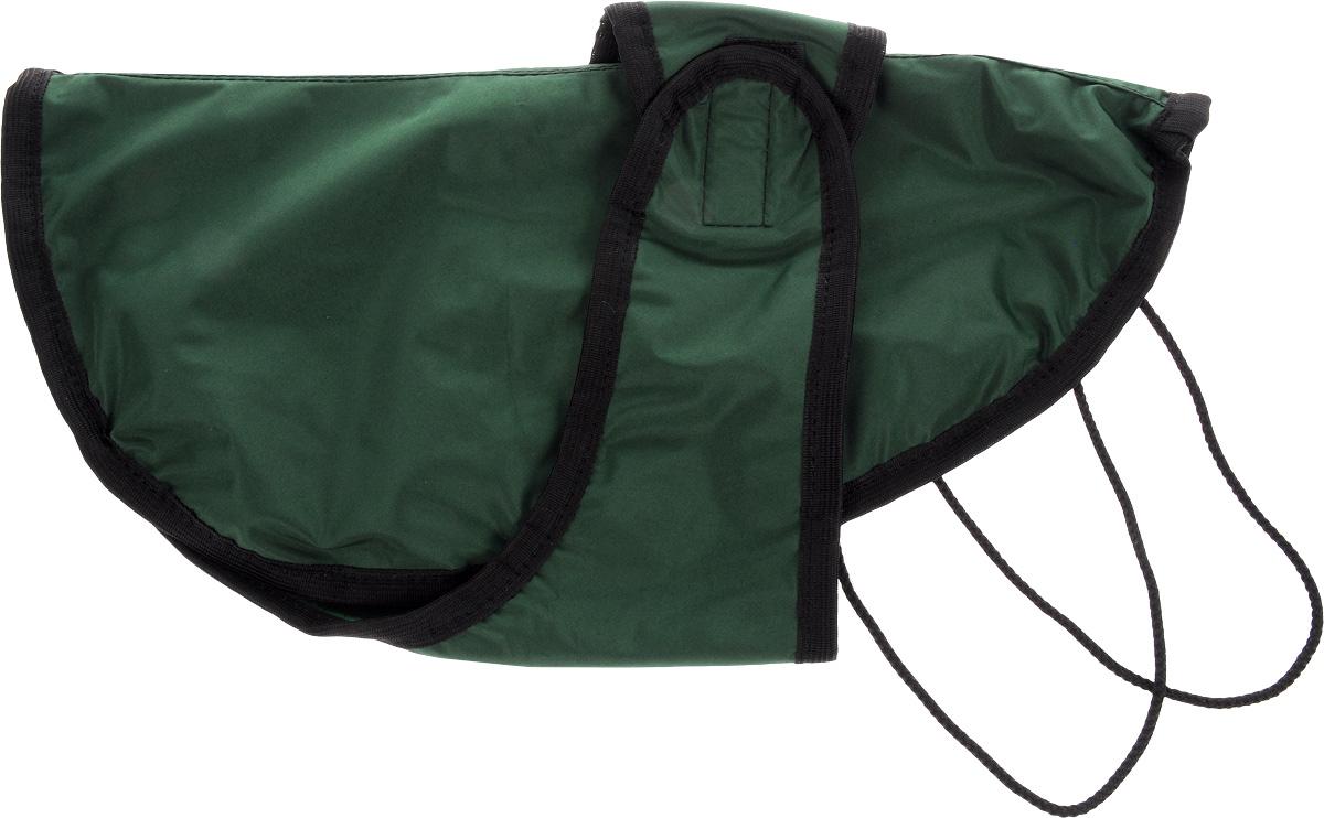 Попона для собак ЗооМарк, цвет: зеленый, черный. Размер 2П-2_зеленый, черныйПопона для собак ЗооМарк отлично подойдет для прогулок в прохладное время года. Попона изготовлена из плащевки, защищающая от ветра и осадков, а на подкладке используется флис, который отлично сохраняет тепло и обеспечивает воздухообмен. Попона оснащена веревочками-прорезями для ног и застегивается на липучку. Ворот оснащен резинкой, благодаря чему ее легко надевать и снимать. Благодаря такой попоне питомцу будет тепло и комфортно в любое время года.