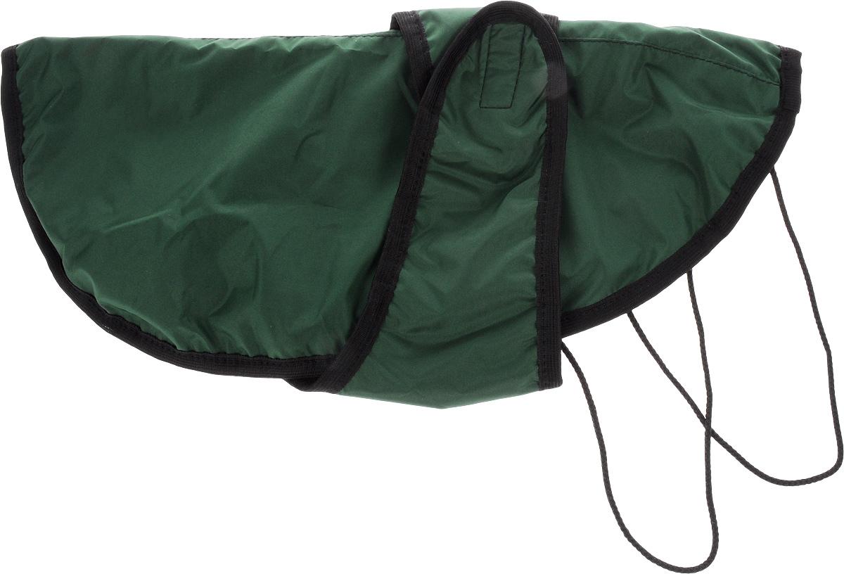 Попона для собак ЗооМарк, цвет: зеленый, черный. Размер 3П-3_зеленый, черныйПопона для собак ЗооМарк отлично подойдет для прогулок в прохладное время года. Попона изготовлена из плащевки, защищающая от ветра и осадков, а на подкладке используется флис, который отлично сохраняет тепло и обеспечивает воздухообмен. Попона оснащена веревочками-прорезями для ног и застегивается на липучку. Ворот оснащен резинкой, благодаря чему ее легко надевать и снимать. Благодаря такой попоне питомцу будет тепло и комфортно в любое время года.