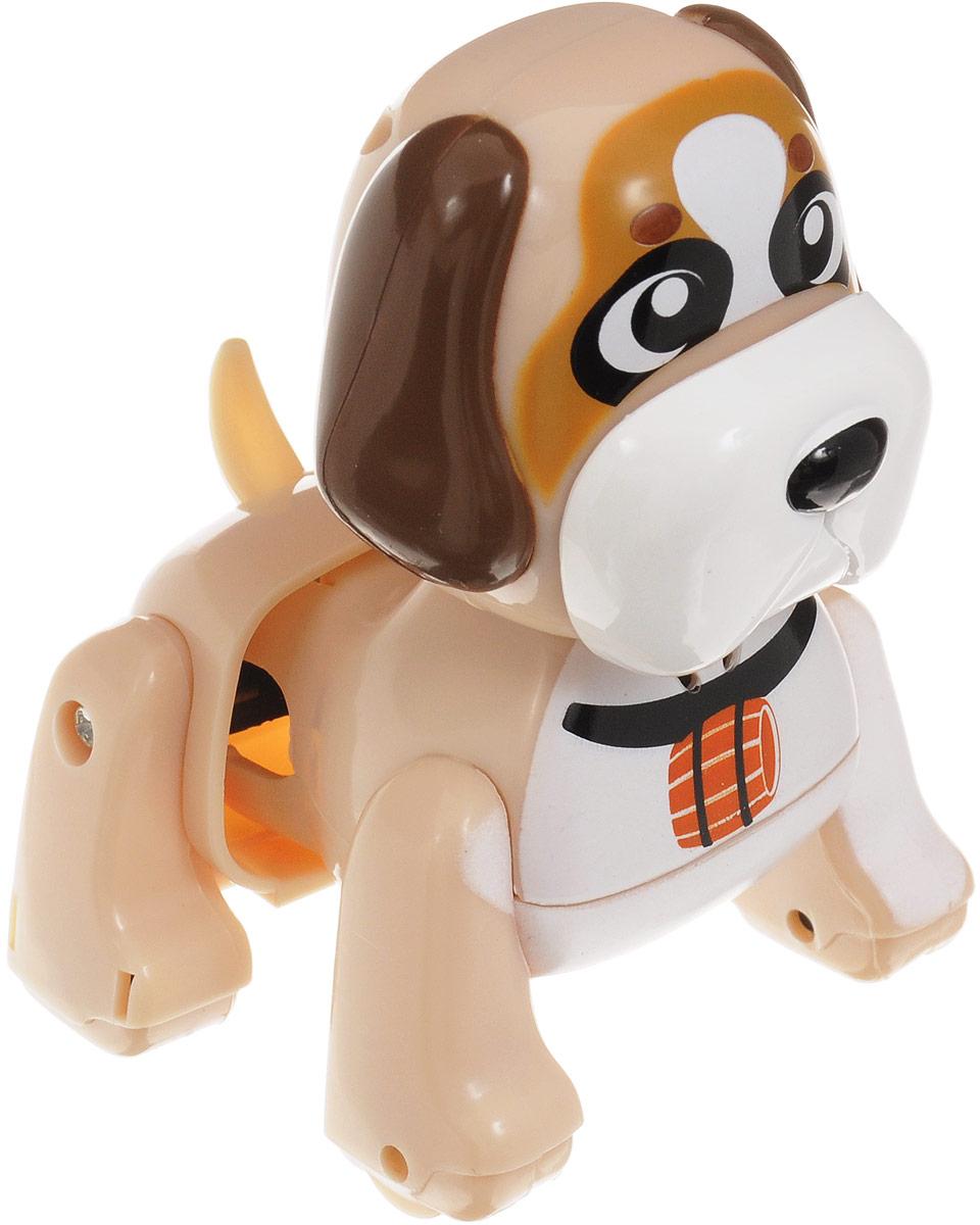 DigiFriends Интерактивная игрушка Щенок Сенбернар88479Интерактивная игрушка DigiFriends Щенок Сенбернар - забавный миниатюрный щенок, который обязательно понравится вашему малышу. Собака умеет делать множество вещей, присущих настоящим домашним питомцам, и даже чуть больше! Нужно поиграть с животным, чтобы активизировать его: потрогать за голову, похлопать в ладоши или посвистеть. Сенбернар умеет самостоятельно ходить вперед и назад, издает приятные звуки и поет одну из встроенных песенок-мелодий. Во время передвижения задняя часть тела собаки раскачивается в ритме звучащих мелодий, а спинка шевелится подобно шерсти настоящего животного. Небольшие размеры позволяют брать щенка с собой повсюду. Игрушка синхронизируется с LilKittens и LilPuppies. Создайте свою коллекцию интерактивных щенков различных пород! Игрушка выполнена из высококачественного пластика, который не содержит вредных химических веществ. Рекомендуется докупить 3 батарейки напряжением 1,5V типа АG13 (товар комплектуется демонстрационными).
