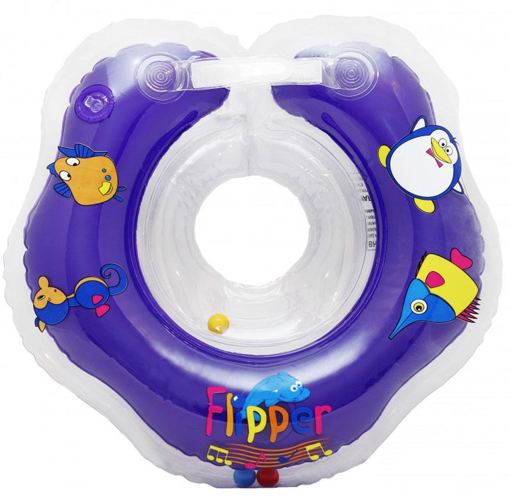 Roxy-kids Круг музыкальный на шею для купания Flipper