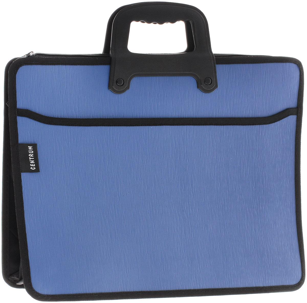 Centrum Папка-портфель на молнии с ручкой цвет темно-синий 82263_темно-синий
