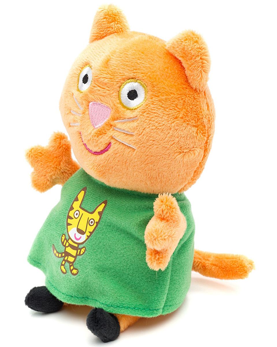 Peppa Pig Мягкая игрушка Кенди с тигром 20 см29622Котенок Кенди сегодня нарядилась в платье с красочной аппликацией в виде тигренка - ее любимой игрушки. Мягкая игрушка несет с собой теплые и добрые ощущения благодаря нежному материалу. Ребенок будет с радостью играть с любимым персонажем, а также спать ночью. А может быть, вы соберете всю плюшевую семью и друзей Peppa Pig. Мягкая игрушка способствует развитию мелкой моторики, тактильных ощущений, стимулирует цветовосприятие и учит концентрировать внимание.