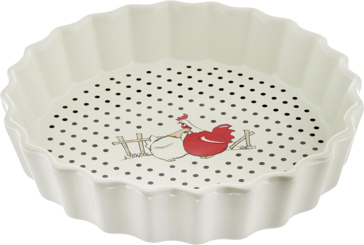 Блюдо для запекания Olaff, круглое, диаметр 25 смYU-08094Блюдо для запекания Olaff, изготовленное из высококачественной жаропрочной керамики, идеально подойдет для приготовления блюд в духовке, а также сервировки стола. Блюдо станет отличным дополнением к вашему кухонному инвентарю и подчеркнет прекрасный вкус хозяина. Диаметр: 25 см. Высота стенки: 5 см.