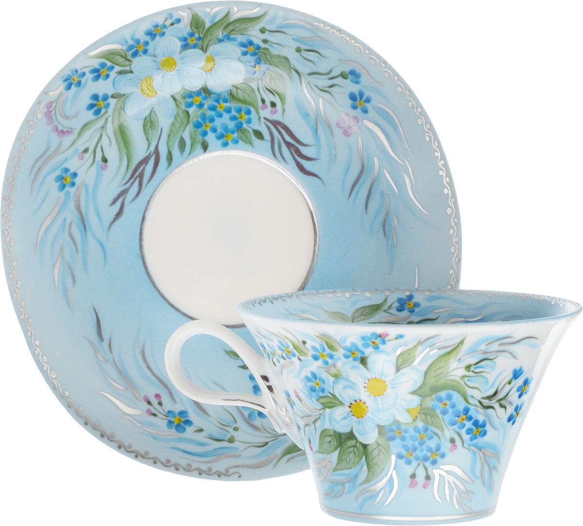 Чайная пара Фарфор Вербилок Дыхание Наяды, 2 предмета2709000ПЧайная пара Фарфор Вербилок Дыхание Наяды состоит из чашки и блюдца, изготовленных из высококачественного фарфора. Изделия оформлены в классическом стиле и имеют изысканный внешний вид. Такой набор прекрасно дополнит сервировку стола к чаепитию и подчеркнет ваш безупречный вкус. Чайная пара Фарфор Вербилок Дыхание Наяды - это прекрасный подарок к любому случаю. Объем чашки: 200 мл. Диаметр чашки (по верхнему краю): 10 см. Высота чашки: 6 см. Размер блюдца: 14 х 15 см. Высота блюдца: 2,5 см.