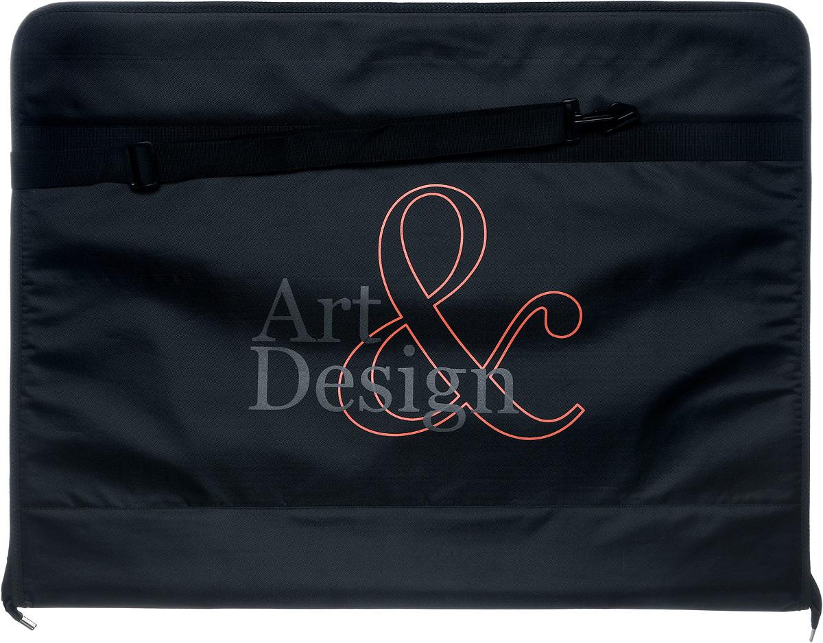 Папка художника Аntan Art&Design, цвет: черный. 6-23/16-23Папка художника Аntan выполнена из высококачественного полиэстера и оформлена фирменным изображением. Папка оснащена удобными ручками и съемным плечевым ремнем, длина которого регулируется с помощью пряжки. Внутри расположено главное отделение, которое содержит четыре эластичные резинки на липучках. Изделие закрывается на застежку-молнию.