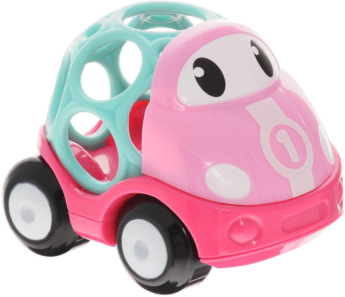 Oball Машинка гоночная цвет розовый10311-6Гоночная машинка Oball из серии Только вперед! представлена в виде развивающей игрушки для малышей. Кузов машинки выполнен в форме шара с большими отверстиями, которые ребенку будет интересно исследовать любопытными пальчиками. У машинки с забавными глазками подвижные большие колеса, поэтому малыш с легкостью будет катать игрушку по любым гладким поверхностям. Машина изготовлена из прочного пластика ярких расцветок и совместима с другими игрушками серии Только вперед!, которые приобретаются отдельно.