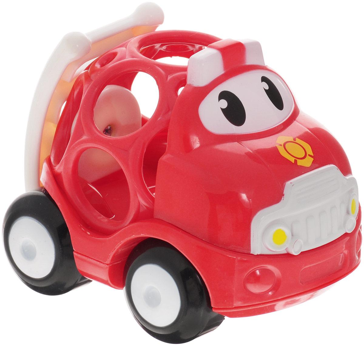 Oball Машинка Пожарная служба10311-3Машинка Oball Пожарная служба из серии Только вперед! представлена в виде развивающей игрушки для малышей. Кузов машинки выполнен в форме шара с большими отверстиями, которые ребенку будет интересно исследовать любопытными пальчиками. У машинки с забавными глазками подвижные большие колеса, поэтому малыш с легкостью будет катать игрушку по любым гладким поверхностям. Пожарная машина изготовлена из прочного пластика ярких расцветок и совместима с другими игрушками серии Только вперед!, которые приобретаются отдельно.