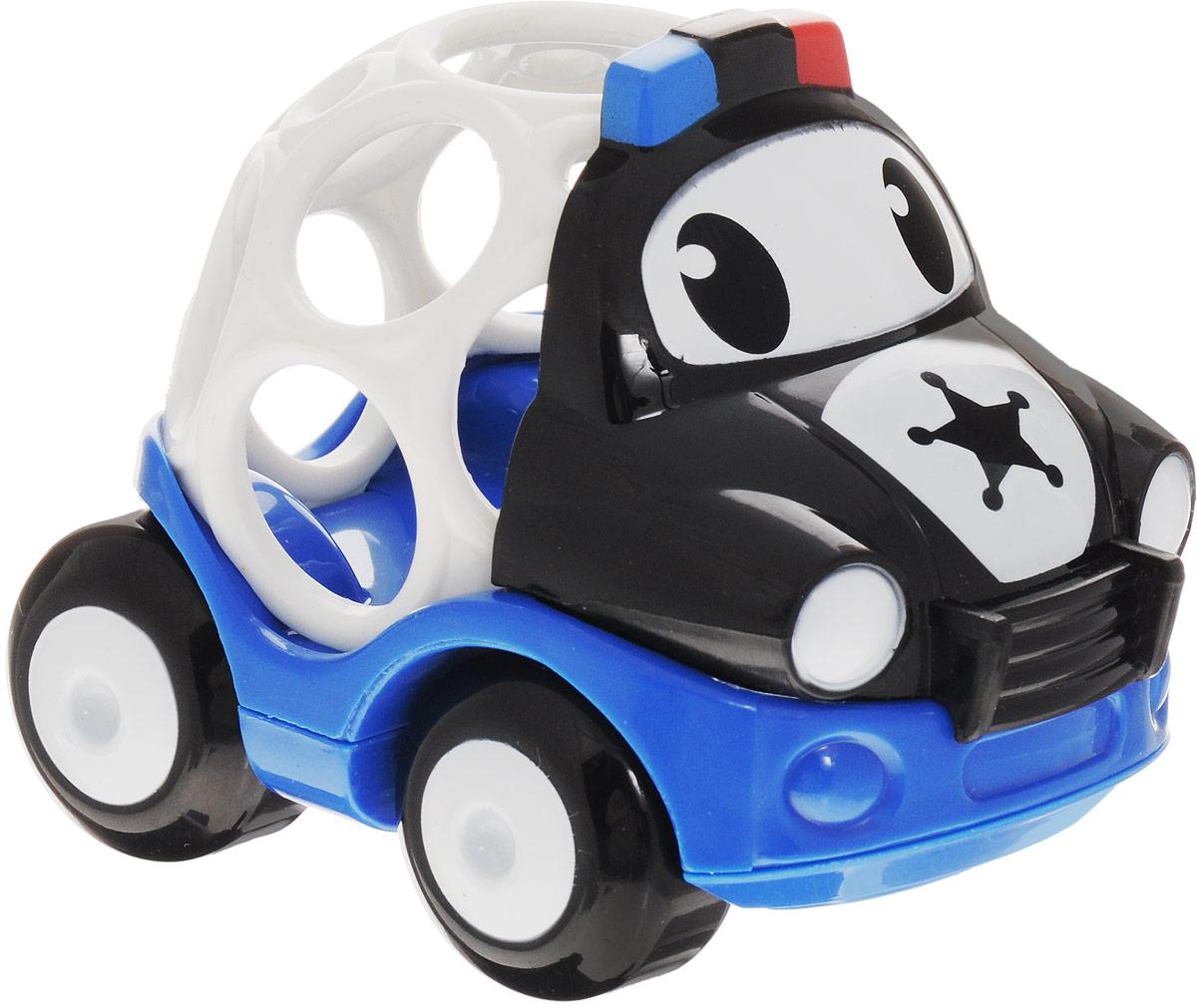 Oball Машинка Полиция10311-5Машинка Oball Полиция из серии Только вперед! представлена в виде развивающей игрушки для малышей. Кузов машинки выполнен в форме шара с большими отверстиями, которые ребенку будет интересно исследовать любопытными пальчиками. У машинки с забавными глазками подвижные большие колеса, поэтому малыш с легкостью будет катать игрушку по любым гладким поверхностям. Полицейская машина изготовлена из прочного пластика ярких расцветок и совместима с другими игрушками серии Только вперед!, которые приобретаются отдельно.