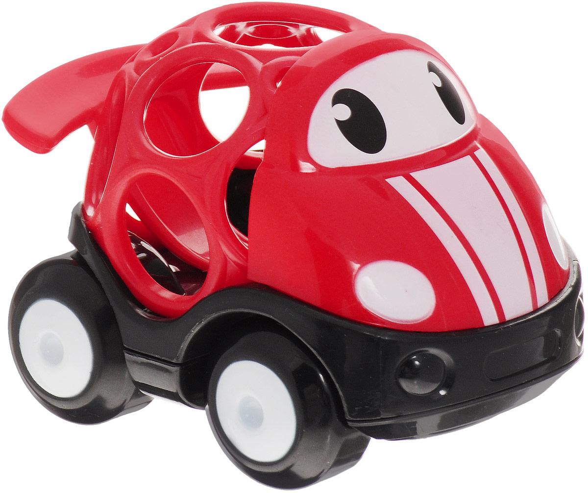 Oball Машинка гоночная цвет красный10311-4Гоночная машинка Oball из серии Только вперед! представлена в виде развивающей игрушки для малышей. Кузов машинки выполнен в форме шара с большими отверстиями, которые ребенку будет интересно исследовать любопытными пальчиками. У машинки с забавными глазками подвижные большие колеса, поэтому малыш с легкостью будет катать игрушку по любым гладким поверхностям. Гоночная машина изготовлена из прочного пластика ярких расцветок и совместима с другими игрушками серии Только вперед!, которые приобретаются отдельно.