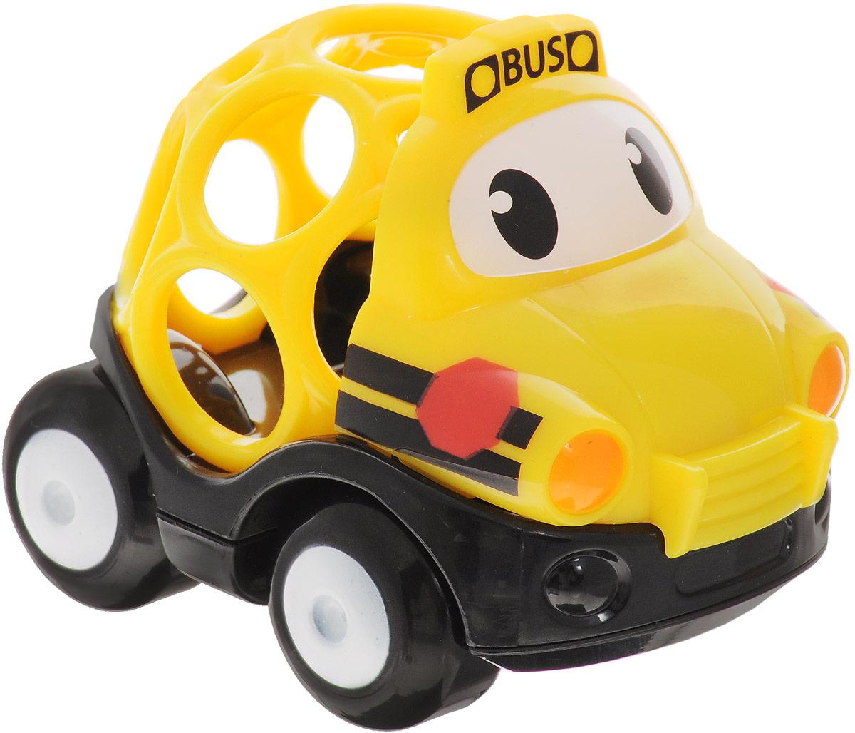 Oball Машинка Школьный автобус10311-2Машинка Oball Школьный автобус из серии Только вперед! представлена в виде развивающей игрушки для малышей. Кузов машинки выполнен в форме шара с большими отверстиями, которые ребенку будет интересно исследовать любопытными пальчиками. У машинки с забавными глазками подвижные большие колеса, поэтому малыш с легкостью будет катать игрушку по любым гладким поверхностям. Машинка изготовлена из прочного пластика ярких расцветок и совместима с другими игрушками серии Только вперед!, которые приобретаются отдельно.