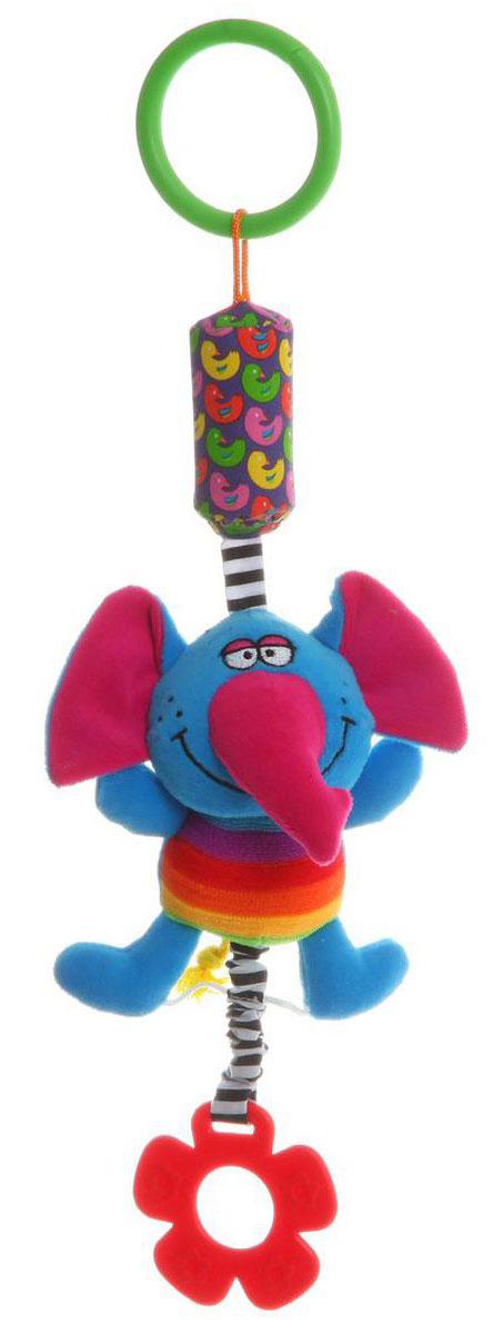 Bondibon Игрушка-подвеска СлонВВ1287_слонИгрушка-подвеска Bondibon Слон выполнена из качественных и безопасных материалов. Она имеет вид слона и оснащена колокольчиком. Если потрясти подвеску, то она будет издавать шелест, а к ее нижней части на резинке присоединен прорезыватель для зубов. Именно игрушки-подвески передают крохам первый визуальный и тактильный опыт, и становятся настоящими друзьями в первые месяцы жизни.