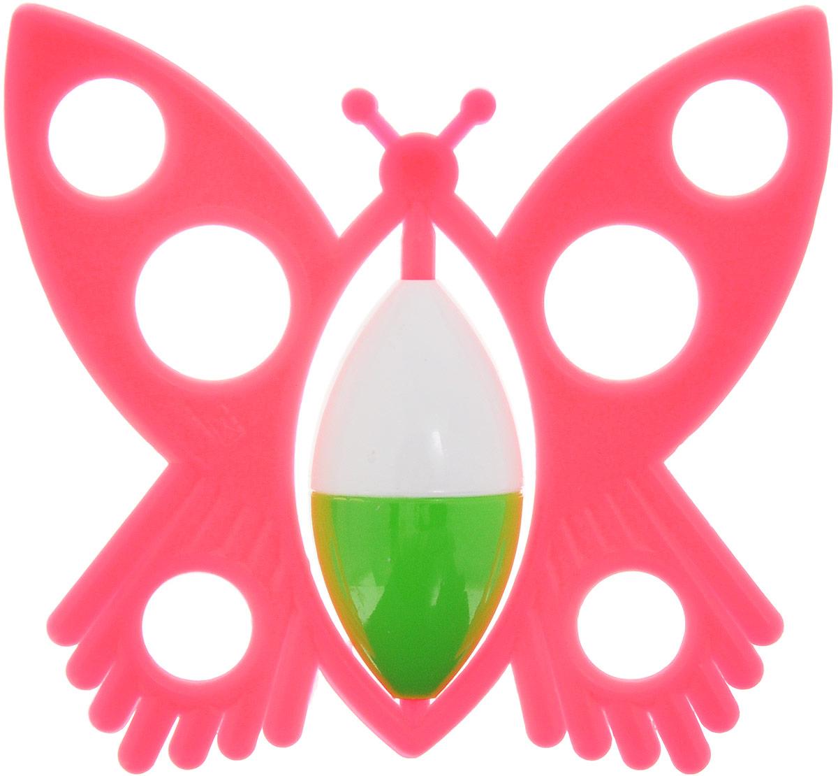 Аэлита Погремушка Бабочка цвет коралловый