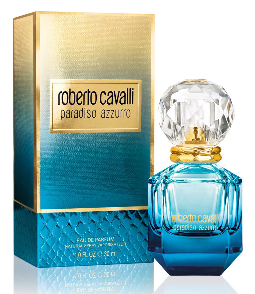 Roberto Cavalli Paradiso Azzurro Парфюмерная вода женская 30 мл75777063000Свежий цветочный акватический парфюм продолжает тему комфортного, спокойного отдыха на лазурных берегах. Изысканный Paradiso Azzurro стал более эфемерным, прохладным, чем оригинальный Paradiso. В утонченном и грациозном аромате великолепно отражены гладка