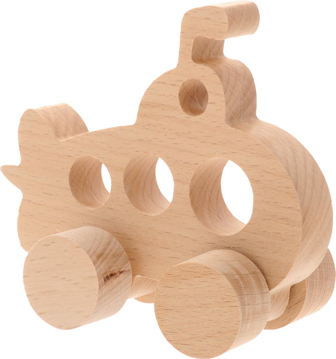 Волшебный городок Игрушка-каталка Подводная лодкаКПЛБДеревянная игрушка-каталка Волшебный городок Подводная лодка развивает моторику ребенка, логику, пространственное мышление, зрительное восприятие и внимание малыша. Игрушка выполнена из высококачественного дерева, что абсолютно исключает вероятность травмирования. Понравится каждому малышу и станет хорошим подарком.