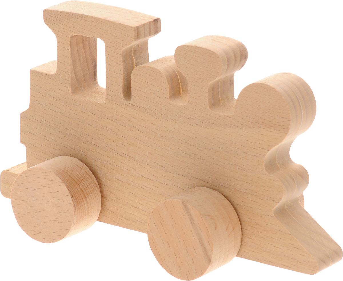 Волшебный городок Игрушка-каталка ПаровозикКПБДеревянная игрушка-каталка Волшебный городок Паровозик без сомнения понравится вашему малышу и станет хорошим подарком для него. . Игрушка выполнена из высококачественного дерева, что абсолютно исключает вероятность травмирования. При игре с таким паровозиком у вашего малыша будут развиваться моторика рук, пространственное мышление, зрительное восприятие и внимание.