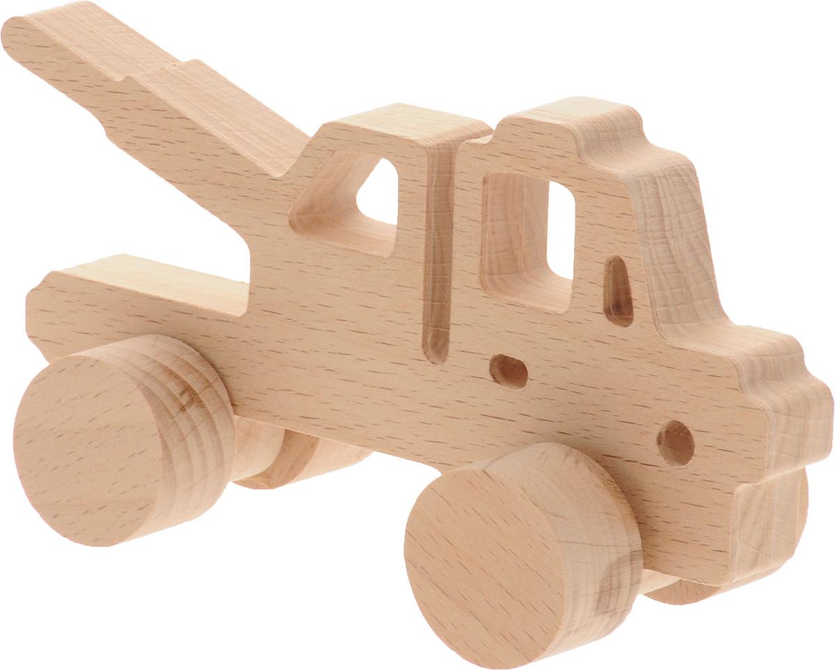 Волшебный городок Игрушка-каталка КранККБДеревянные игрушки Волшебный городок развивают моторику ребенка, логику, пространственное мышление, зрительное восприятие и внимание малыша. Игрушка-каталка Кран выполнена из высококачественного дерева (бука). Колеса игрушки имеют свободный ход. Игрушка-каталка непременно понравится вашему мальчику, подойдет для игры как дома, так и на свежем воздухе.