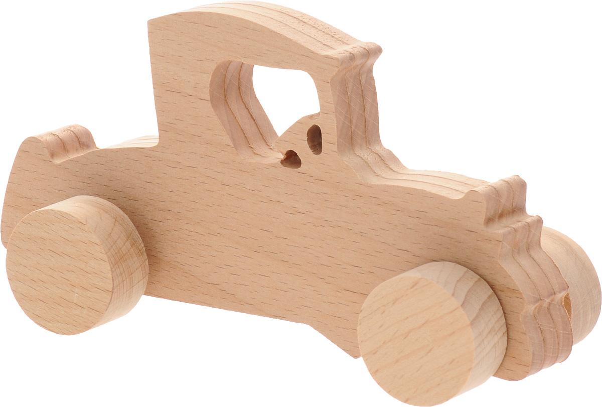 Волшебный городок Игрушка-каталка Ретро АвтоКРАБДеревянные игрушки Волшебный городок развивают моторику ребенка, логику, пространственное мышление, зрительное восприятие и внимание малыша. Игрушка-каталка Ретро Авто выполнена из высококачественного дерева (бука). Колеса игрушки имеют свободный ход. Игрушка-каталка непременно понравится вашему мальчику, подойдет для игры как дома, так и на свежем воздухе.