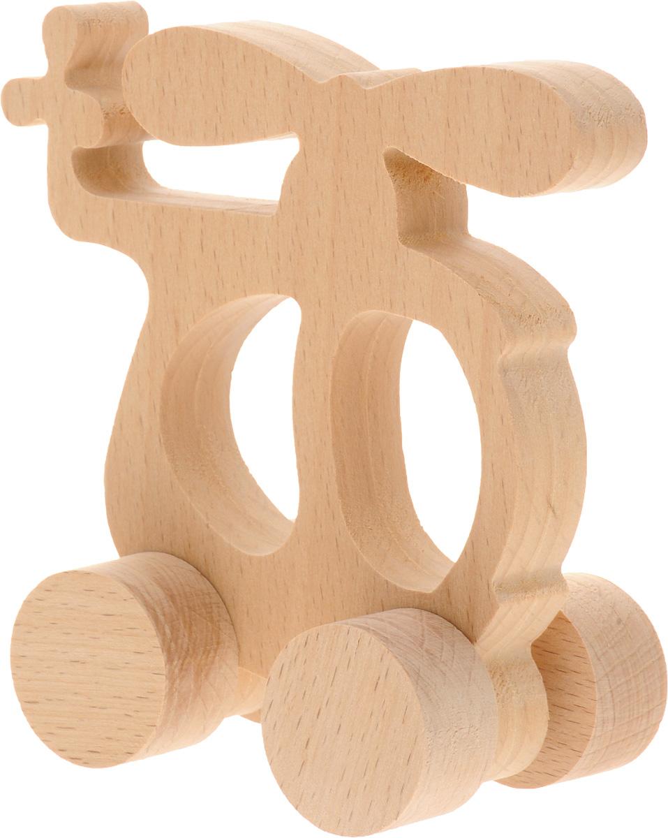 Волшебный городок Игрушка-каталка ВертолетКВБДеревянные игрушки Волшебный городок развивают моторику ребенка, логику, пространственное мышление, зрительное восприятие и внимание малыша. Игрушка-каталка Вертолет выполнена из высококачественного дерева (бука). Колеса игрушки имеют свободный ход. Игрушка-каталка непременно понравится вашему мальчику, подойдет для игры как дома, так и на свежем воздухе.